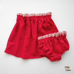 jupe rouge liberty Agathe et marceau