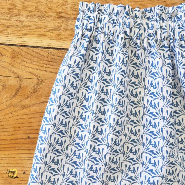 jupe enfant fleurs bleues Agathe et Marceau