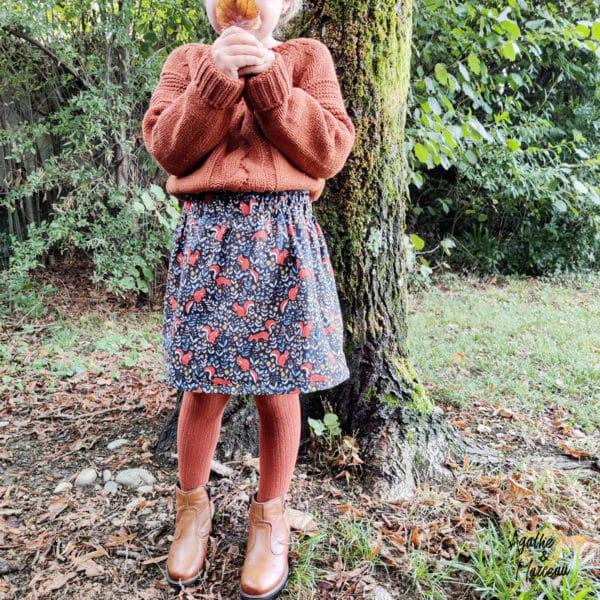 jupe enfant écureuil automne agathe et marceau